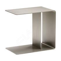 Table d'appoint contemporaine / en inox brossé / rectangulaire / professionnelle
