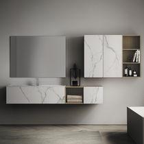 Salle de bain design / en céramique / en bois / en CristalPlant®