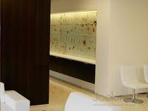 Panneau en verre à motif / pour agencement intérieur / pour bâtiment / argenté