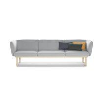 Canapé contemporain / en tissu / en cuir / en bois