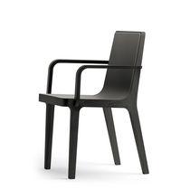 Chaise contemporaine / avec accoudoirs / tapissée / en tissu