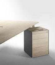 Caisson de bureau en bois / à 3 tiroirs
