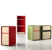 Caisson de bureau stratifié / à 2 tiroirs / à roulettes / modulaire