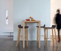 Table mange-debout contemporaine / en chêne / rectangulaire