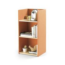 Bibliothèque basse / contemporaine / pour bureau / en bois