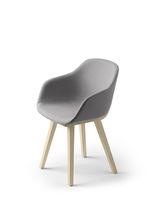 Chaise contemporaine / tapissée / en chêne / en bois massif