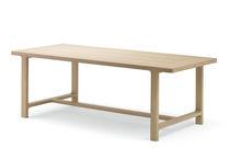 Table contemporaine / en chêne / rectangulaire / à rallonge