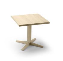 Table bistrot contemporaine / en chêne / carrée / pour restaurant