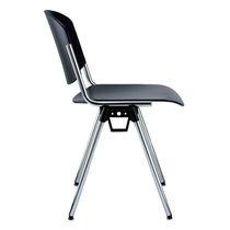 Chaise visiteur contemporaine / en contreplaqué moulé / en acier / tapissée