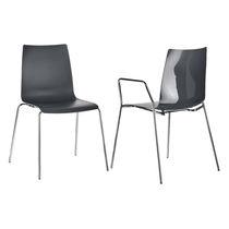 Chaise visiteur contemporaine / en plastique / en acier / empilable