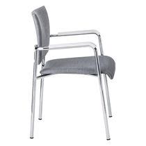 Chaise visiteur contemporaine / en contreplaqué moulé / en hêtre / en acier