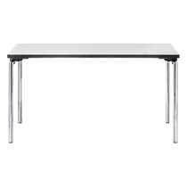 Table contemporaine / en métal / rectangulaire / pour établissement public