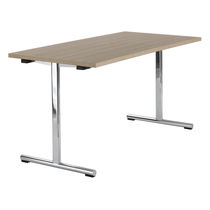 Table de travail contemporaine / en bois / en HPL / en acier