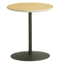 Table bistrot contemporaine / en acier / ronde / professionnelle