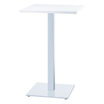 Table mange-debout contemporaine / en acier / carrée / professionnelle