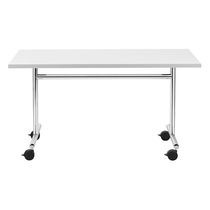 Table contemporaine / en acier / rectangulaire / pour établissement public
