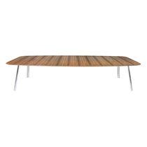 Table de conférence contemporaine / en bois / en acier / rectangulaire
