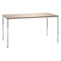 Table de travail contemporaine / en HPL / en bois / en acier