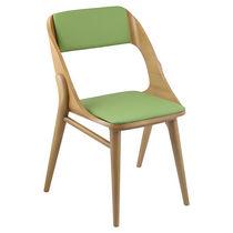 Chaise visiteur contemporaine / en tissu / en bois