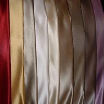 Tissu d'ameublement / uni / en soie