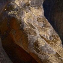 Tissu d'ameublement / à motif / brodé