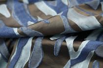Tissu d'ameublement / à motif / en soie / jacquard