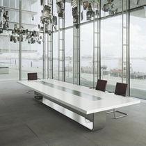 Table de conférence / contemporaine / en bois / en métal
