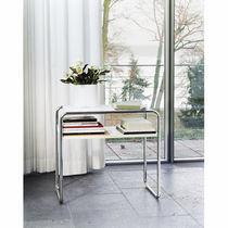 Table gigogne / design Bauhaus / en bois / en verre
