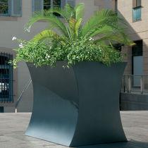 Jardinière en acier inoxydable / en acier COR-TEN® / contemporaine / pour espace public