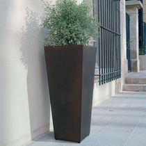 Jardinière en acier COR-TEN® / conique / contemporaine / pour espace public
