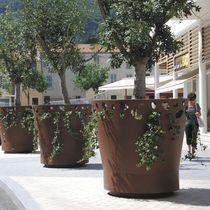 Bac d'orangerie en métal / pour espace public