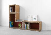 Bibliothèque modulable / contemporaine / en carton