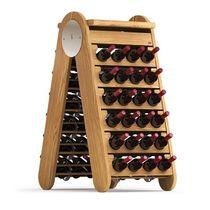 Présentoir à bouteilles / en bois / pour commerce