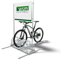 Range-vélo en tôle d'acier / en acier galvanisé / publicitaire / pour espace public