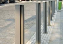 Borne d'éclairage urbaine / contemporaine / en acier / à LED
