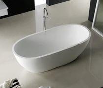 Baignoire à poser / ovale / en Solid Surface