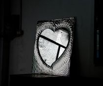 Miroir mural / contemporain / en métal