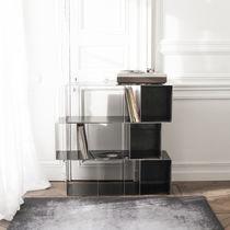 Étagère modulable / design industriel / en acier / pour disques vinyles