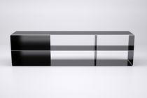 Étagère modulable / design industriel / en acier / sur mesure