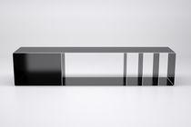 Étagère basse / design industriel / en acier / pour disques vinyles