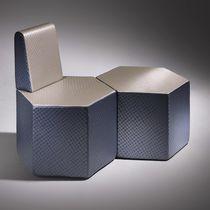 Pouf contemporain / en mousse haute densité enduite / modulable / professionnel