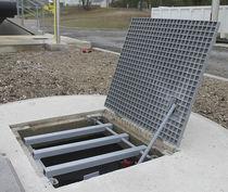 Trappe d'accès pour sol / rectangulaire / sur mesure / en composite