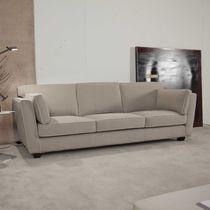 Canapé contemporain / en tissu / 3 places / beige