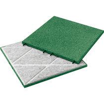Dalle souple d'extérieur / de sol / en caoutchouc recyclé / colorée