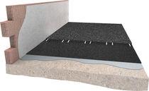 Sous-couche résiliente en rouleau / en caoutchouc recyclé / pour installation sportive