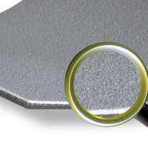 Revêtement de sol en caoutchouc / texturé / aspect pierre / antidérapant