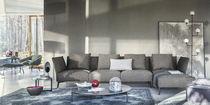 Canapé d'angle / contemporain / en métal / en tissu