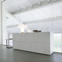 Buffet contemporain / en bois / en bois laqué / en bois laqué mat