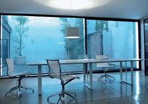 Table de réunion / contemporaine / en bois / en métal