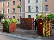 Jardinière en métal / carrée / contemporaine / pour espace public